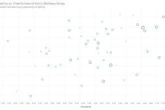 Arctic Monkeys spotify data visualization